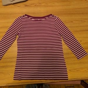c0a95888a6 Women's Lands' End Boat Neck Top on Poshmark